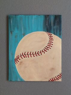 This beautiful baseball wall art is sure to be the perfect finishing touch to your childs baseball themed bedroom, playroom or nursery. It