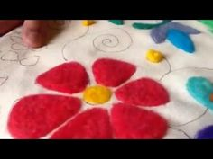 Pintando con vellon agujado - YouTube