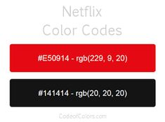 Colors used in the Netflix Logo and Website. Hexadecimal and RGB Codes for Netflix Colors. Hex and RGB Color Palette Schemes for Netflix Icons. What colors does Netflix Use? Rgb Color Codes, Website Color Palette, Netflix, Ppt Design, Strip Lighting, Adobe, Popular, Issa, Colors