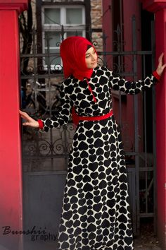 Black, Red & White #Hijab Dress