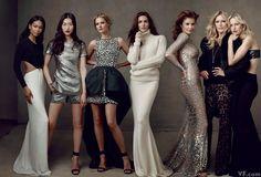 """""""Kors Celebre"""" Vanity Fair USA September 2013 Featuring Chanel Iman, Liu Wen, Carmen Kass, Hilary Rhoda, Helena Christensen, Patti Hansen, K..."""