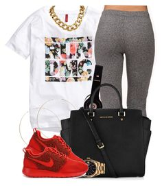 """""""8/27/14"""" by oh-aurora ❤ liked on Polyvore featuring Mode, H&M, Forever 21, ASOS, Michael Kors, Rolex und NIKE"""