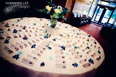 name cards and blue orchids