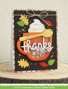 Lawn Fawn Blog, Lawn Fawn Stamps, Coffee Cards, Interactive Cards, Fall Cards, Holiday Cards, Christmas Cards, Christmas Post, Shaker Cards
