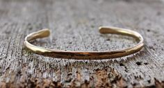 OOAK mens hammered 14k gold bracelet by TheSpiralRiver Use Coupon Code: PIN10 for 10% off #couponcode