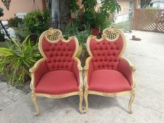 Pair of some beautiful Antique chairs REUPHOLSTERED By BUDGET UPHOLSTERY