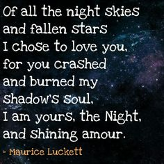 Poem: Night and Shining Amour
