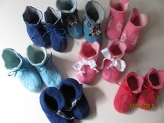 Filzschuhe  auf warmen Füßen in die Welt Ursula Pauly felt shoes for babys