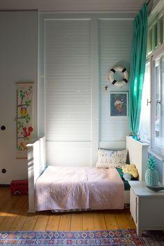 Das Tropische Kinderzimmer. Oder alles ist grün. Für den Jungen gibt es auch Blau. Waldfriedenstate.com