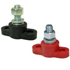 Positive Insulated Battery Power Junction Post Block 3/8 Lug X 16 (Red & Black Set)