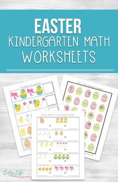 Super cute Easter Kindergarten math worksheets for number sense, addition, subtraction and patterns with an Easter theme in the classroom. Perfect Easter math worksheets for kindergarten. Math doesn't have to be a bore. Easter Worksheets, Kindergarten Addition Worksheets, Math Activities For Kids, Numbers Kindergarten, Kindergarten Math Worksheets, Easter Activities, Spring Activities, Homeschool Math, Homeschooling