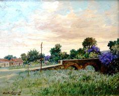 Paisagem mineira, 1961 Gastão Formenti (Brasil, 1894-1874) óleo sobre tela,  32 x 40 cm