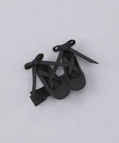 Loving this Black Ballet Shoe Clip on #zulily! #zulilyfinds