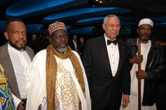 Shaykh Hassan Cisse and Colin Powell