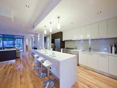 Gray And White Modern Kitchen white kitchen - dark grey splashback | our 'forever' home