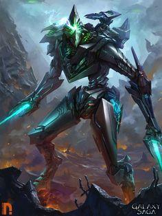 The alien Warrior by Drock-Nicotine.deviantart.com on @DeviantArt