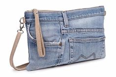 super ideas for sewing jeans bag ideas Diy Jeans, Sewing Jeans, Sewing Diy, Sewing Clothes, Diy Clothes, Denim Purse, Denim Clutches, Denim Ideas, Denim Crafts