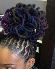 Dreadlock Styles, Dreads Styles, Curly Hair Styles, Updo Styles, Be Natural, Natural Hair Care, Natural Hair Styles, Natural Dreads, Natural Texture