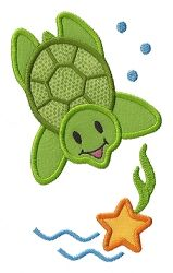 Sea Turtle Applique - 4 Sizes! | Beach/Ocean | Machine Embroidery Designs | SWAKembroidery.com Applique for Kids