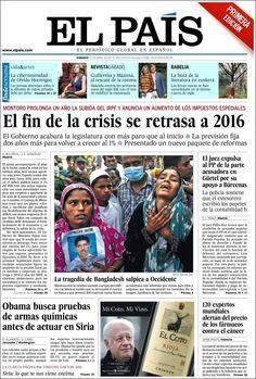 Los Titulares y Portadas de Noticias Destacadas Españolas del 27 de Abril de 2013 del Diario El País ¿Que le parecio esta Portada de este Diario Español?