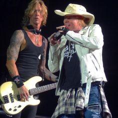 Duff McKagan e Axl Rose - Guns N' Roses Dodger Stadium 2016