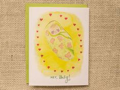 meandwee.com, new baby card, welcome baby greeting card, congratulations on your new baby card