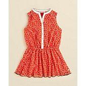 Juicy+Couture+Girls'+Pinwheel+Flower+Shirtdress+-+Sizes+2-5