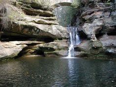 Old man's cave in Hocking Hills Ohio