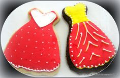 Veena's Art of Cakes: Summer Dress Cookies and a Cinderella Cookie