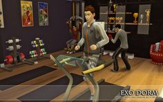 "from the lot ""EXO Dorm"" Fitness Room"