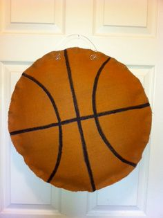 Plain Basketball Burlap Door hanger. : basketball door - Pezcame.Com