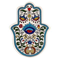 CeramicSize: 10 X 14 cm / 4 X This gorgeous Hamsa shaped Armenian ceramic tile will add a touch of inspirational beauty to any wall it adorns! It features an elegant eye design surrounded by a c Hamsa Design, Home Deco, Hamsa Art, Glass Fusing Projects, Hamsa Tattoo, Paper Napkins For Decoupage, Turkish Art, Hand Of Fatima, Plate Art