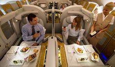 30 Years Ago, You Could Buy a Lifetime, Unlimited First-class Travel Pass with American Airlines. Emirates Airline, Dubai, Business Class, Business Travel, Emirates First Class, Airplane Interior, Flying First Class, First Class Flights, First Class