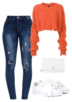 Untitled #9 by jacqueline-jj on Polyvore featuring polyvore, fashion, style, Unravel, Puma, Chanel and clothing