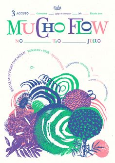 Mucho Flow Festival, Guimarães Poster & Identity, 2013