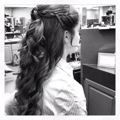 Curly prom hair that I did!