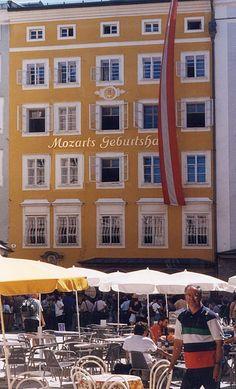 9 Getriedegasse, Salzburg, Austria; the birthplace of Mozart on January 27th 1756.