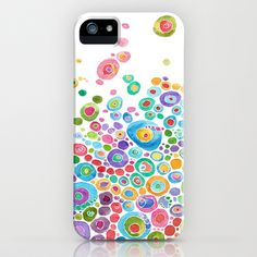 Inner Circle - white iPhone Case by Catherine Holcombe - $35.00