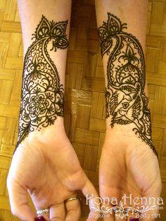 Kona Henna Studio - Mehndi Cuff Wrap with Doves, Mandala and Paisley
