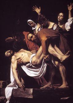 Caravaggio , Enterro , c. 1602-1604