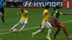 Neymar scores Brazil's second goal