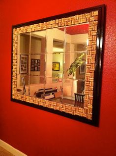 Weekend DIY... Cork Tile Mirror {AFTER} | from Living Savvy