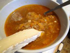 onion & meatball soup