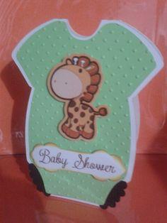 Tarjeta invitacion para baby shower