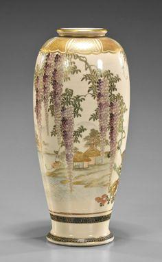Japanese Satsuma Vase. 6/15, 2pm