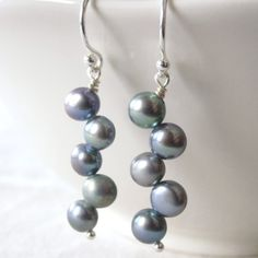 Peacock Freshwater Pearl Earrings