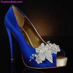 Blue Wedding Shoes | Latest Bridal Blue Wedding Shoes | FashionDak Updates of Dressings ...