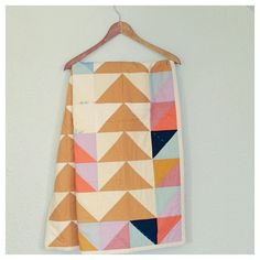 Modern baby quilts from Rain and the River.