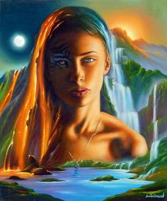 Wild Thing * Artist Jim Warren Fantasy Myth Mythical Mystical Legend Whimsy Hidden Surreal Nature