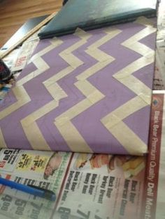 DIY Chevron      : DIY: Chevron Scrapbook  : DIY home decor